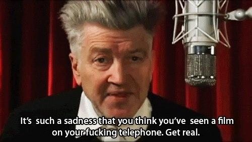 David Lynch protesterar