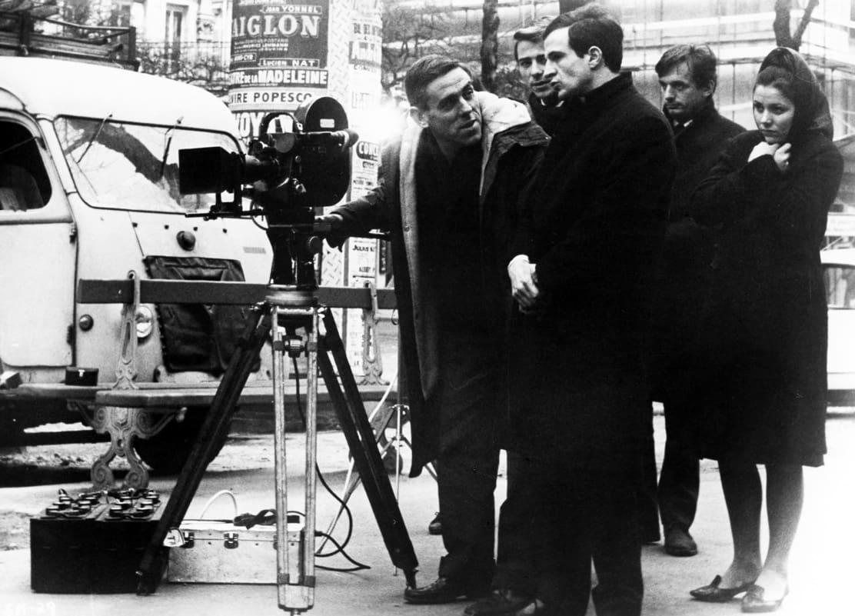 Raoul Coutard under inspelningen av Den lena huden (François Truffaut, 1964)