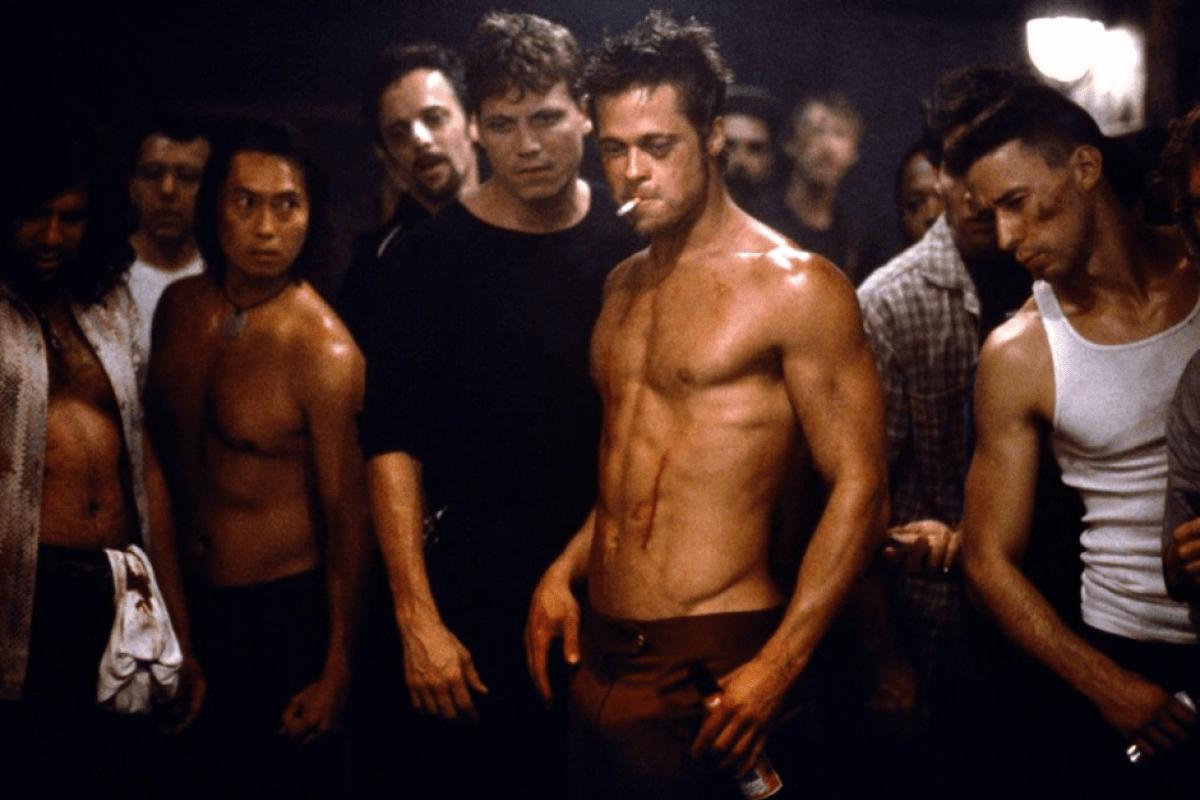 Det är tufft att vara troll. Brad Pitt i Fight club från 1999.
