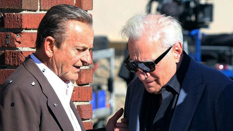 Pesci och Scorsese under inspelningen av The irishman.
