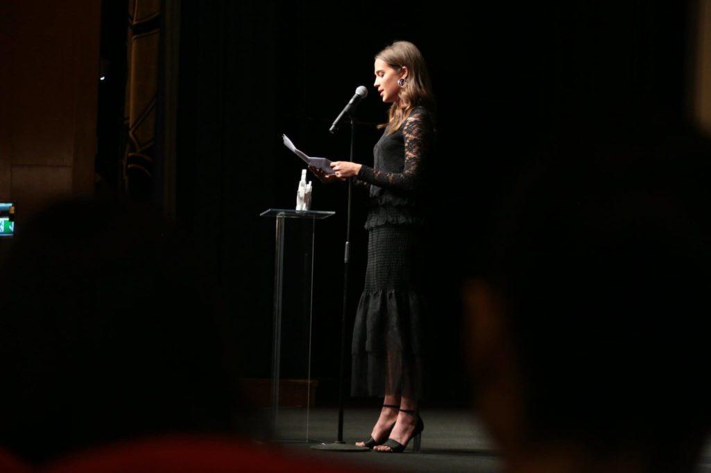 Alicia Vikander under invigningen av Göteborgs filmfestival.