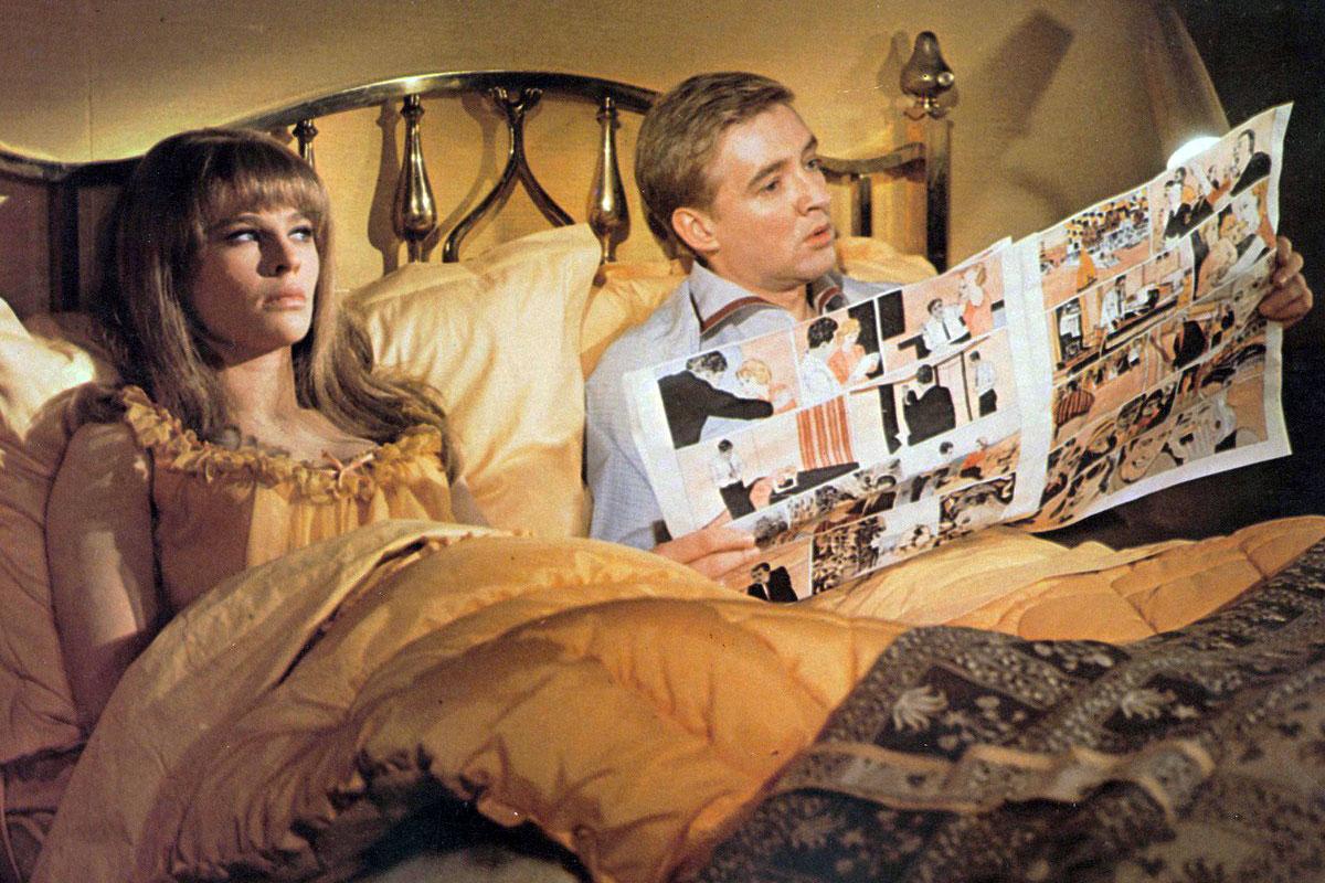 Julie Christie och Oskar Werner i François Truffauts Fahrenheit 451 från 1966.