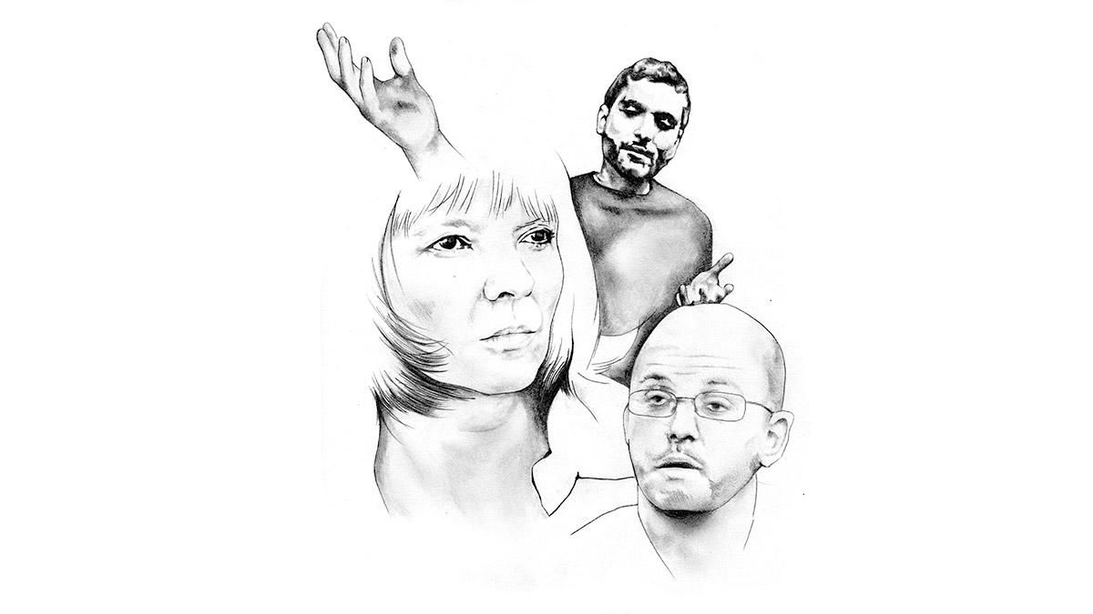 Babak Najafi, Anneli Jordahl och Per Gudmundson.