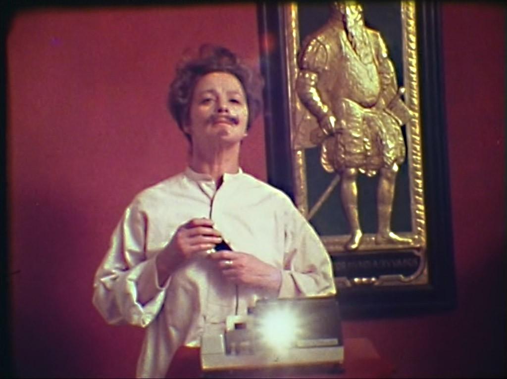 Mai Zetterling som August Strindberg i Mai Zetterling's Stockholm från 1979